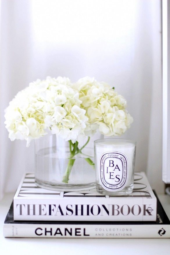 fashion book white candle