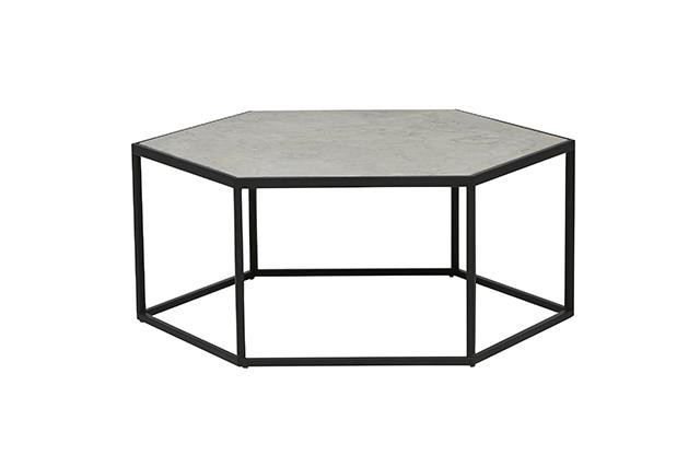 masculine-interiors-grey-hexagon-coffee-table
